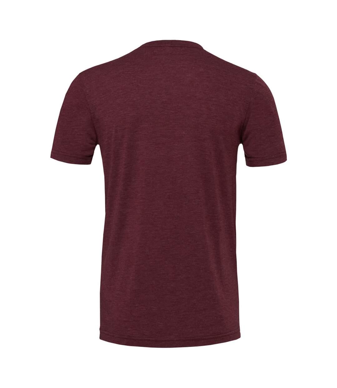 Canvas Mens Triblend Crew Neck Plain Short Sleeve T-Shirt (Maroon Triblend) - UTBC2596
