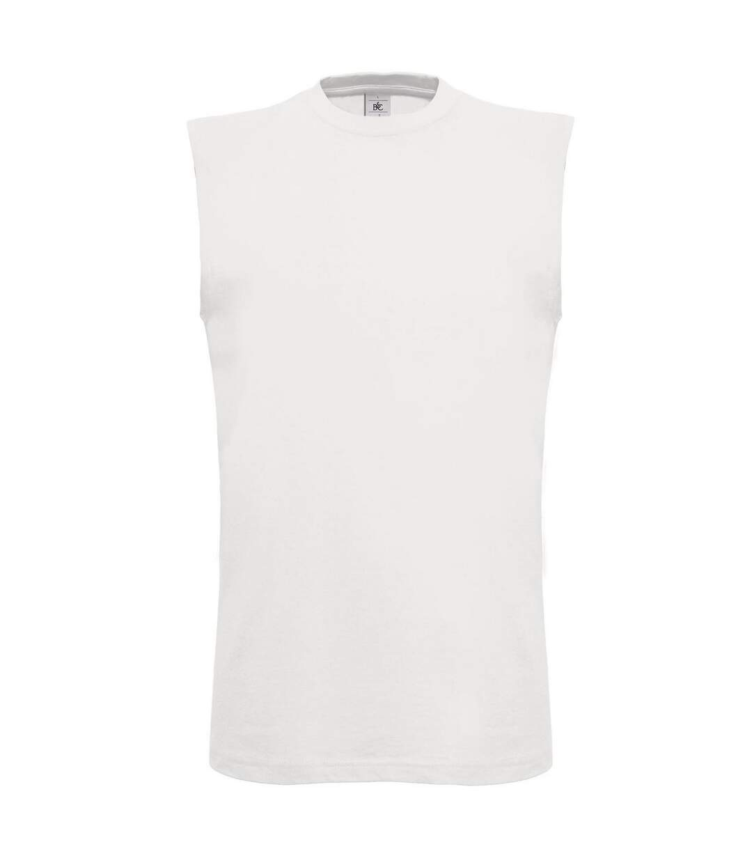 B&C Mens Exact Move Athletic Sleeveless Sports Vest Top (White) - UTRW3502