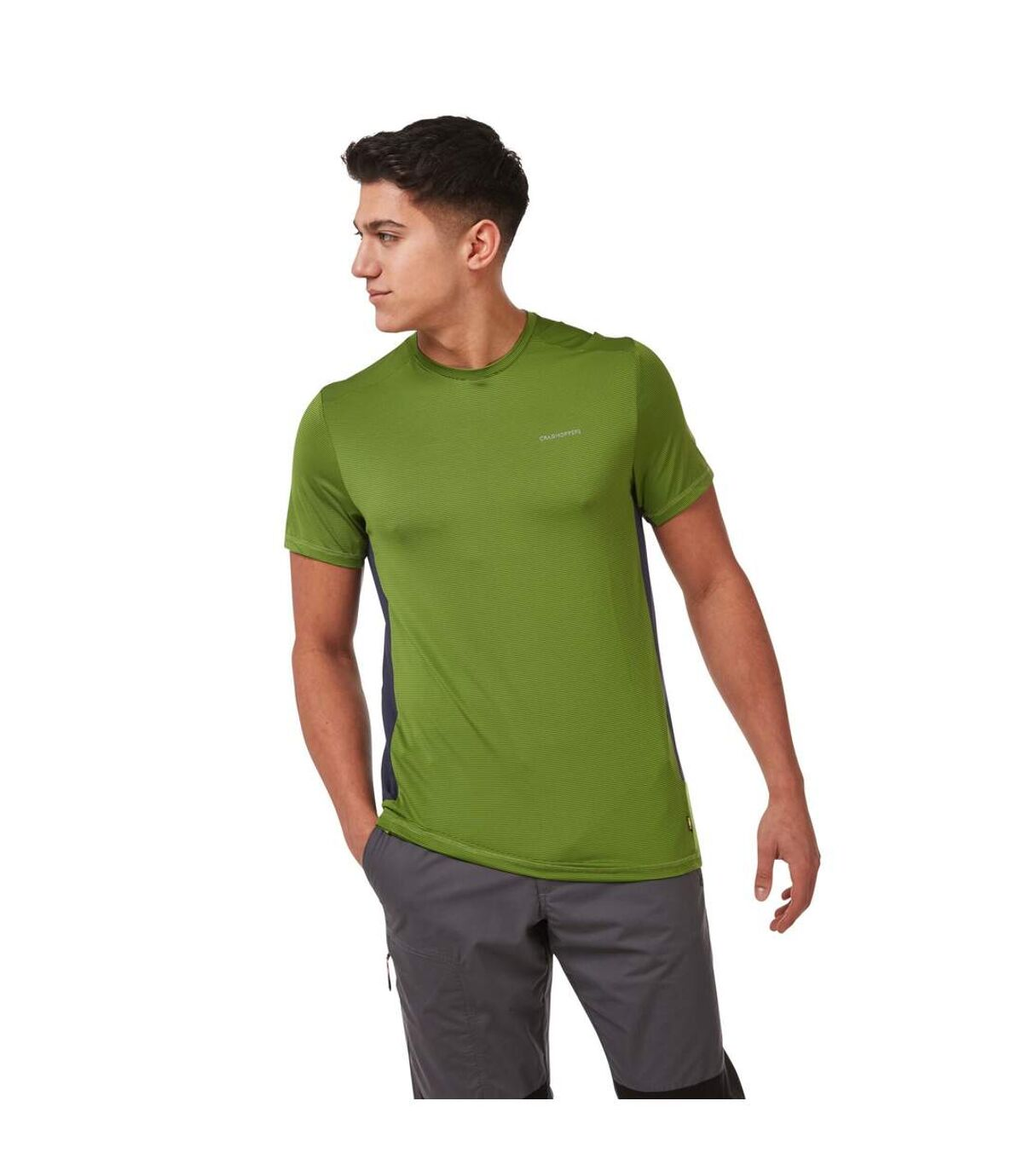 Craghoppers Mens Atmos Short Sleeved T-Shirt (Cloud Grey) - UTCG1293