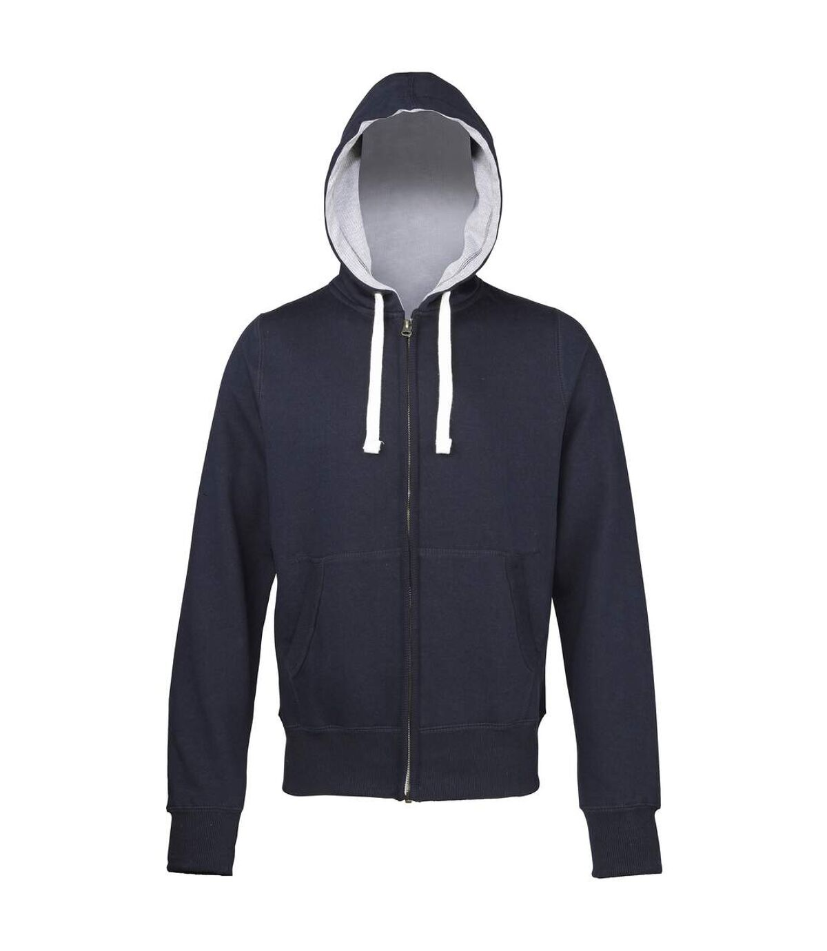 Awdis Chunky Premium Heavyweight Hooded Sweatshirt / Hoodie / Zoodie (Jet Black (Grey inner)) - UTRW181