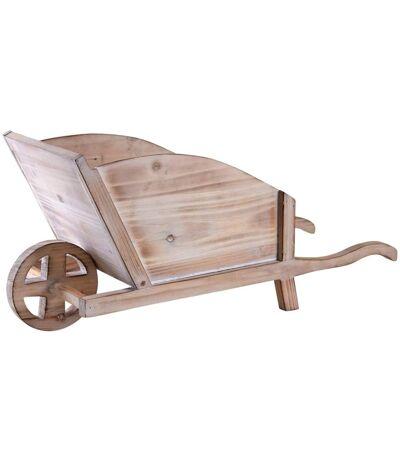 Jardinière brouette en bois