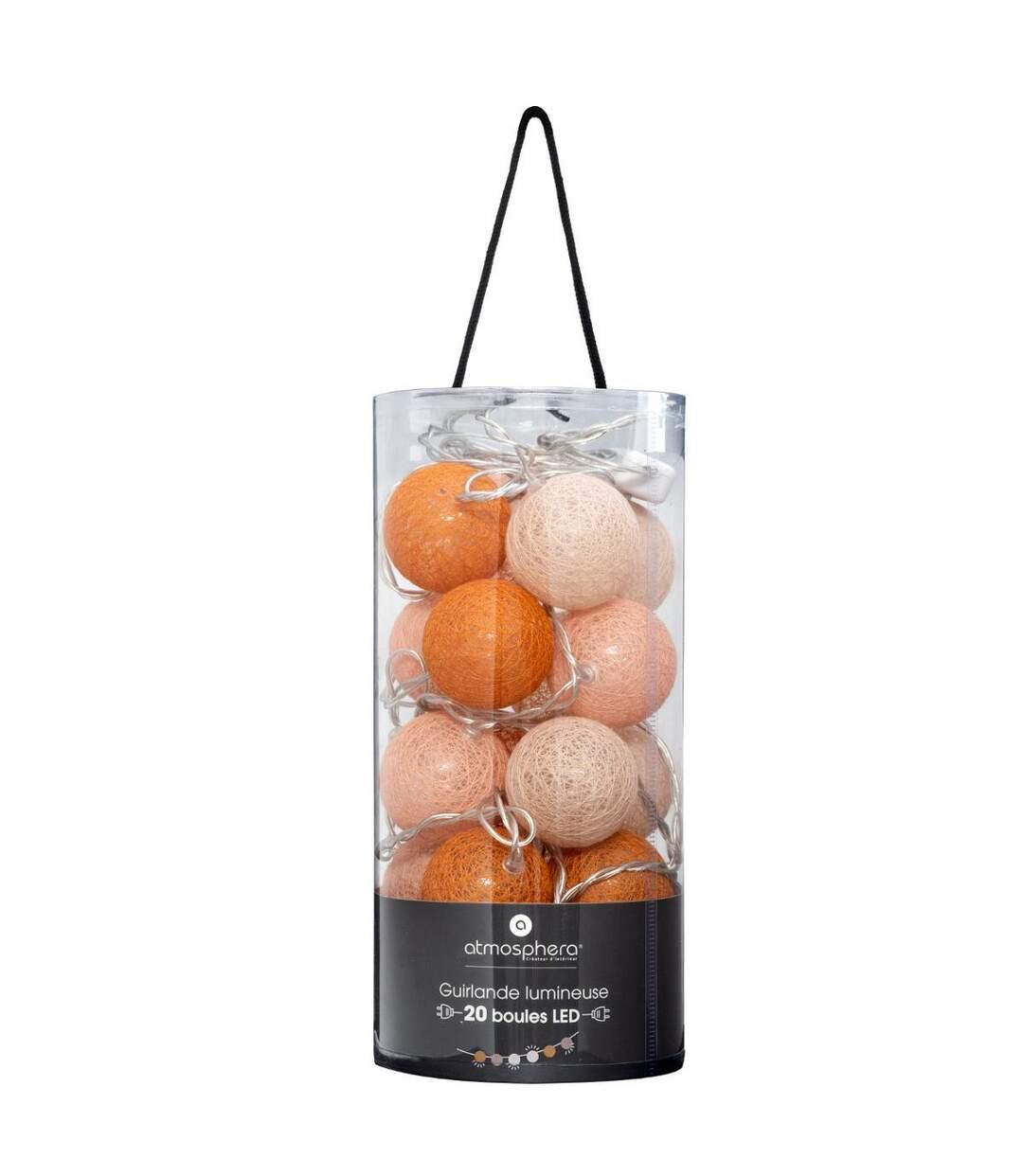 Atmosphera - Guirlande décorative lumineuse Folk 20 boules LED D 6 cm et L 436 cm