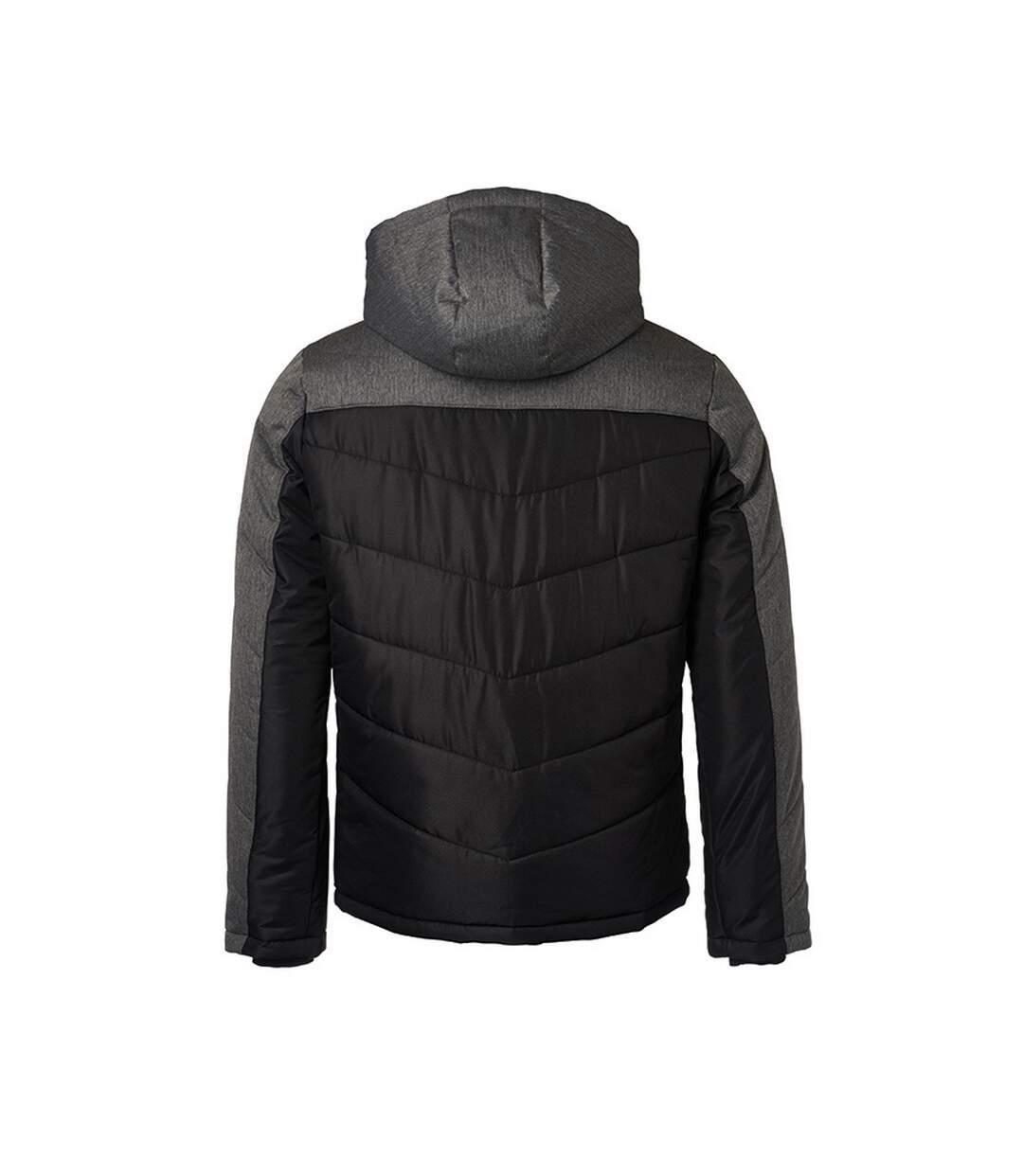 James and Nicholson Mens Winter Jacket (Black/Anthracite Melange) - UTFU432