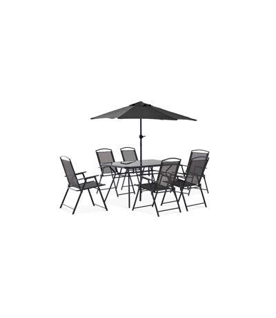 Table de jardin 6 places et parasol, Bormes