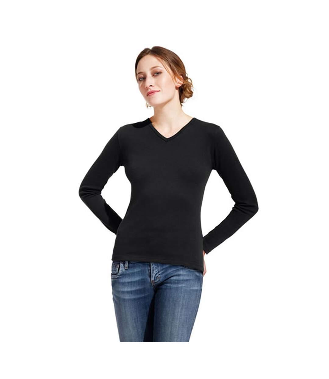 Women's Interlock V-Neck-T LS
