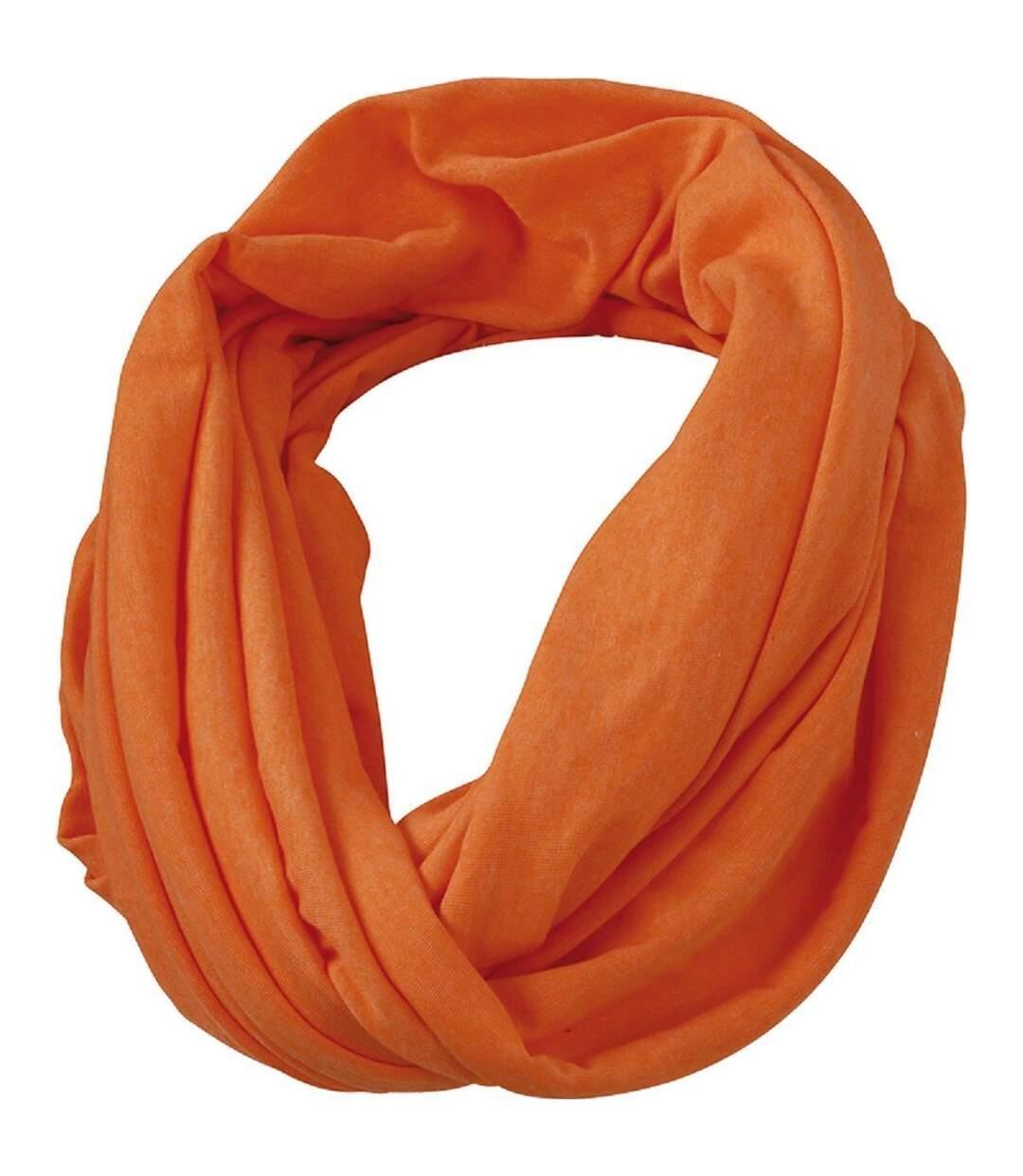 Echarpe - Tour de cou adulte - MB6578 - orange mélange