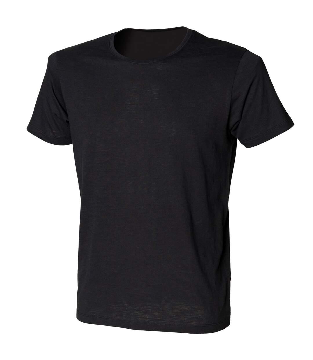 Skinni Fit - T-shirt à manches courtes - Homme (Noir) - UTRW1391