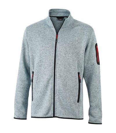 Veste zippée polaire - homme - JN762 - gris clair
