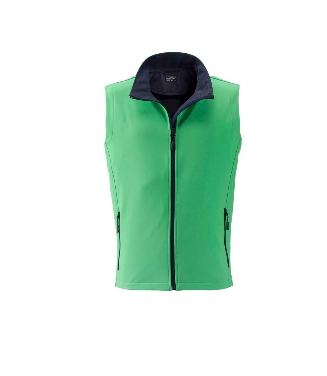 Gilet sans manches micropolaire softshell - JN1128 - vert - Homme