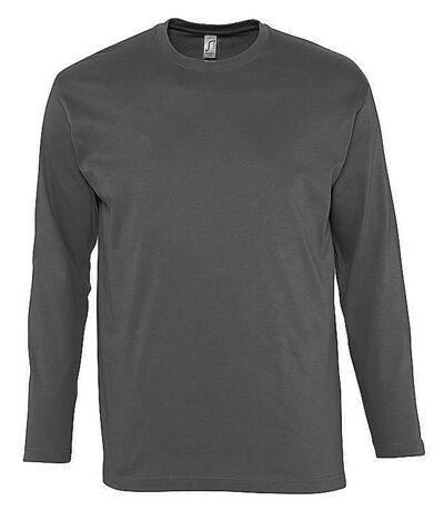 T-shirt manches longues HOMME - 11420 - gris foncé
