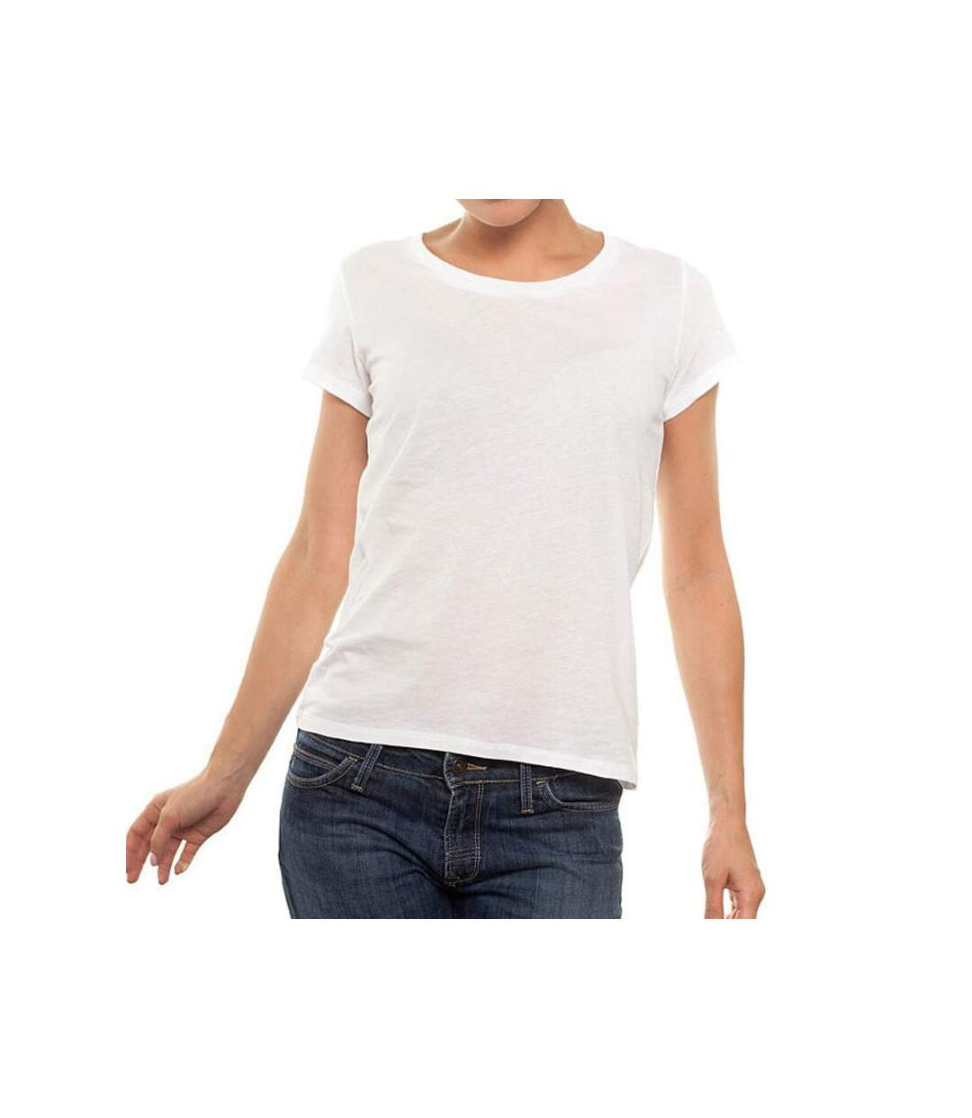 T-Shirt New OutWear L066002 R-Neck Blanc