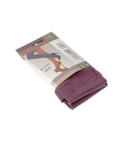 Collant chaud - 1 paire - Unis simple - Opaque - Mat - Gousset polyamide - Violet