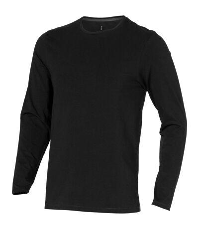 Elevate Mens Ponoka Long Sleeve T-Shirt (Solid Black) - UTPF1811