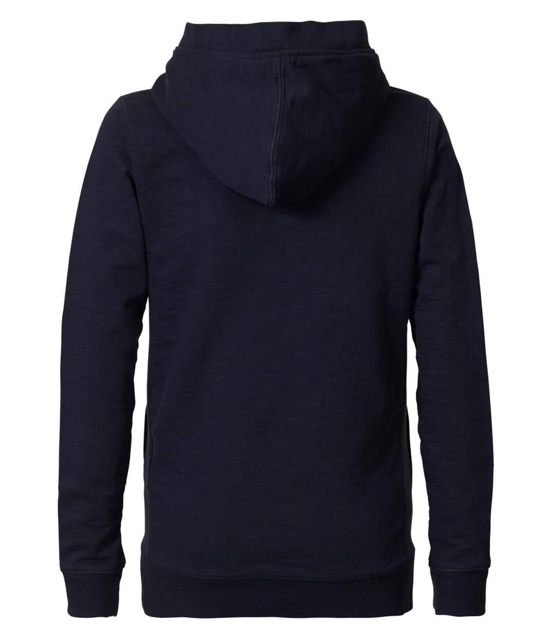 Sweat bleu SWH302 à capuche avec broderie relief en dégradé couleur