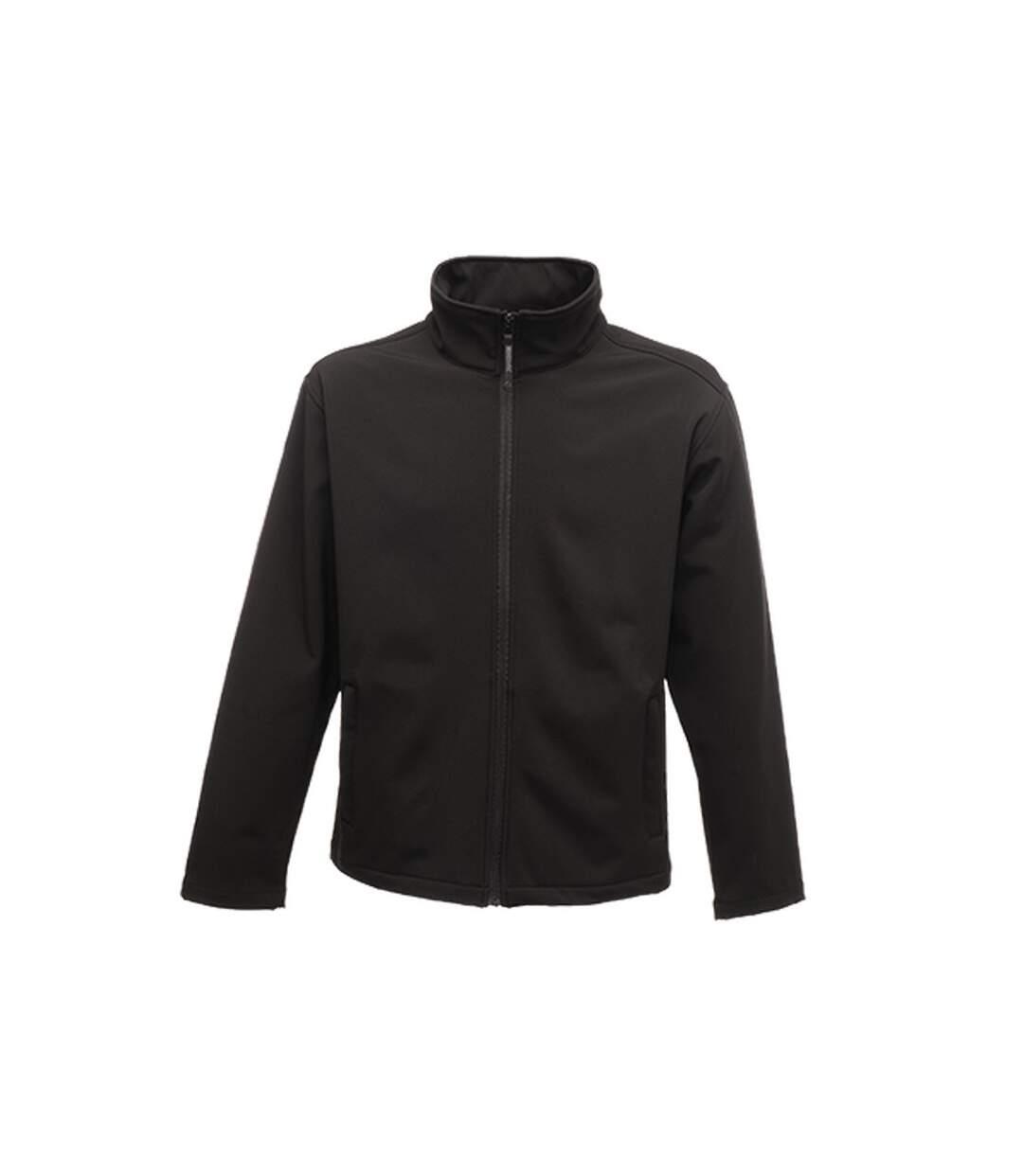 Regatta Classic Mens Water Repellent Softshell Jacket (Black) - UTRG2166