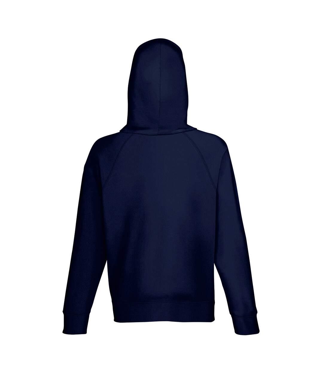 Fruit Of The Loom Mens Lightweight Hooded Sweatshirt / Hoodie (240 GSM) (Deep Navy) - UTBC2654