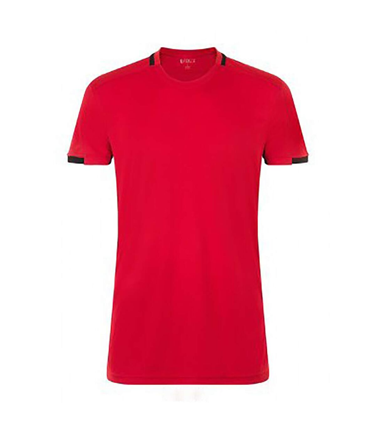 SOLS Mens Classico Contrast Short Sleeve Football T-Shirt (Black/White) - UTPC2787