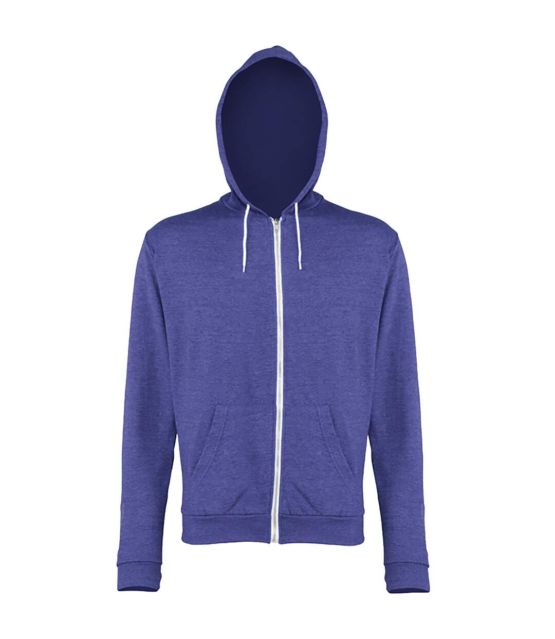 Awdis Mens Heather Lightweight Hooded Sweatshirt / Hoodie / Zoodie (Royal Heather) - UTRW184