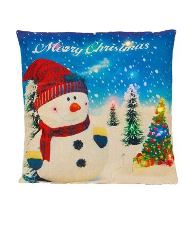 Christmas Shop - Coussin de Noël à LED (Bonhomme de Neige) - UTRW6391
