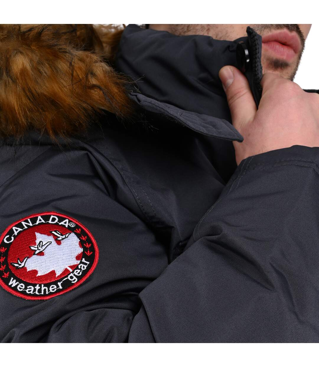Canada Weather Gear Parka à capuche fausse fourrure  Homme