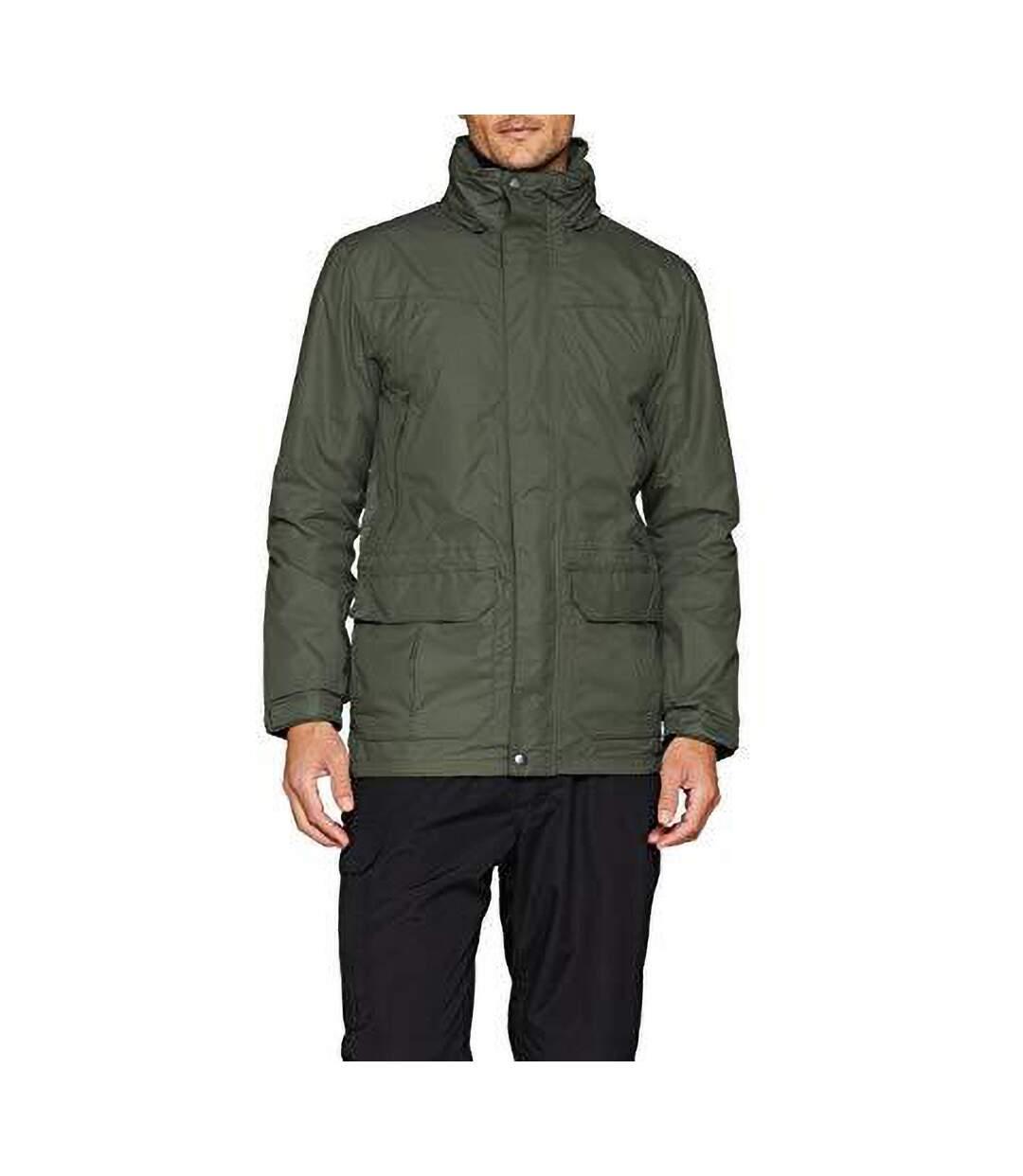 Regatta Mens Vertex III Waterproof Breathable Jacket (Dark Olive) - UTBC3030