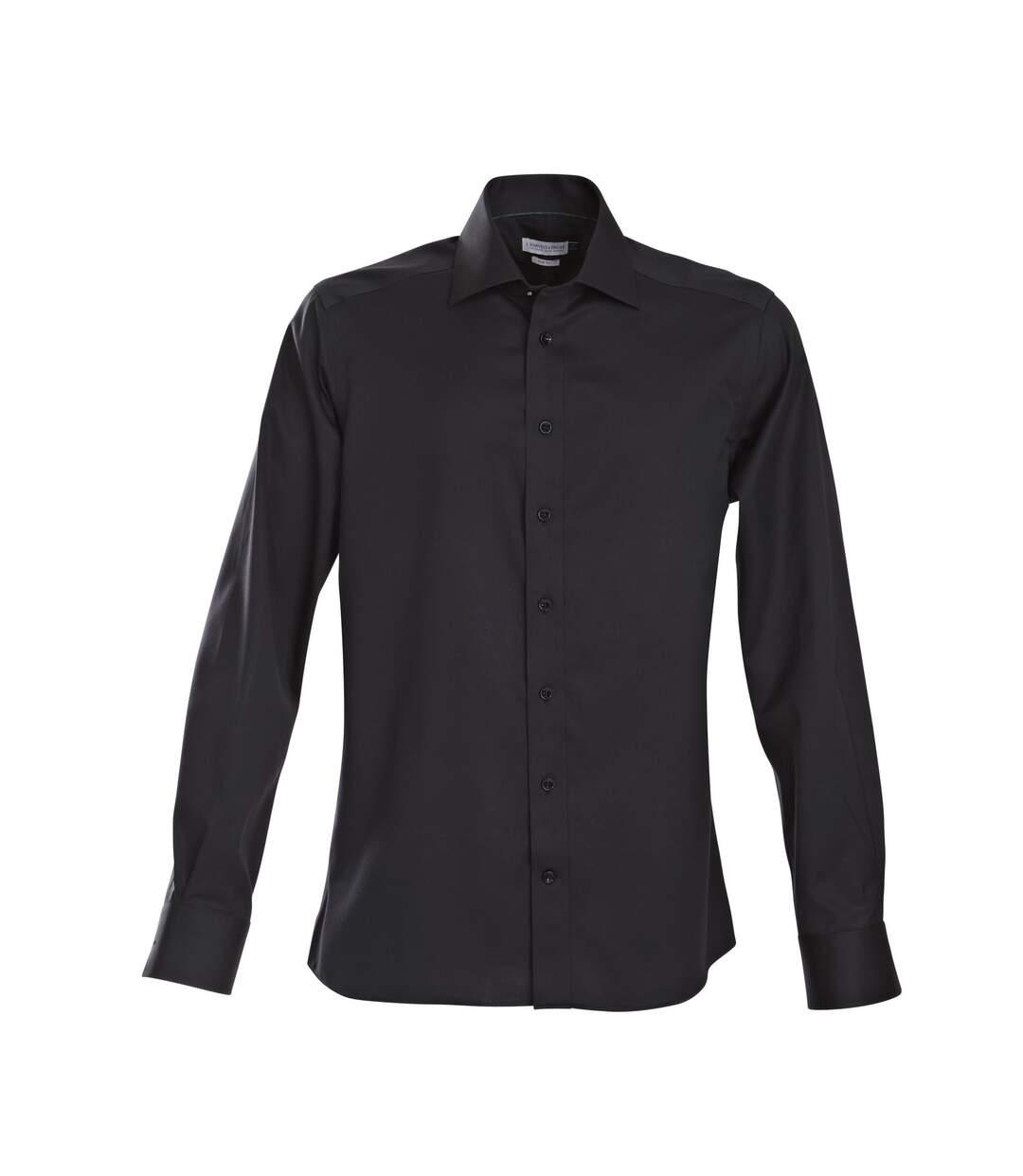 J Harvest & Frost Mens Green Bow Collection Slim Fit Formal Shirt (Black) - UTRW3866