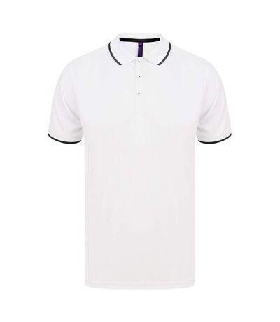 Henbury - T-shirt POLO - Hommes (Blanc/ bleu marine) - UTPC3835