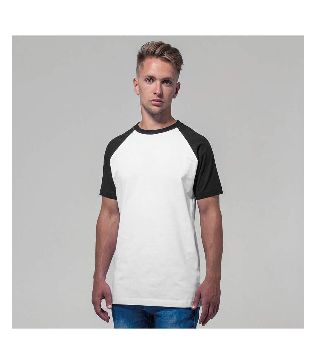 Build Your Brand Mens Raglan Contrast Short Sleeve T-Shirt (White/Black) - UTRW5683