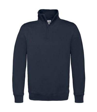 B&C Mens ID.004 1/4 Zip Sweatshirt (Black) - UTRW3028
