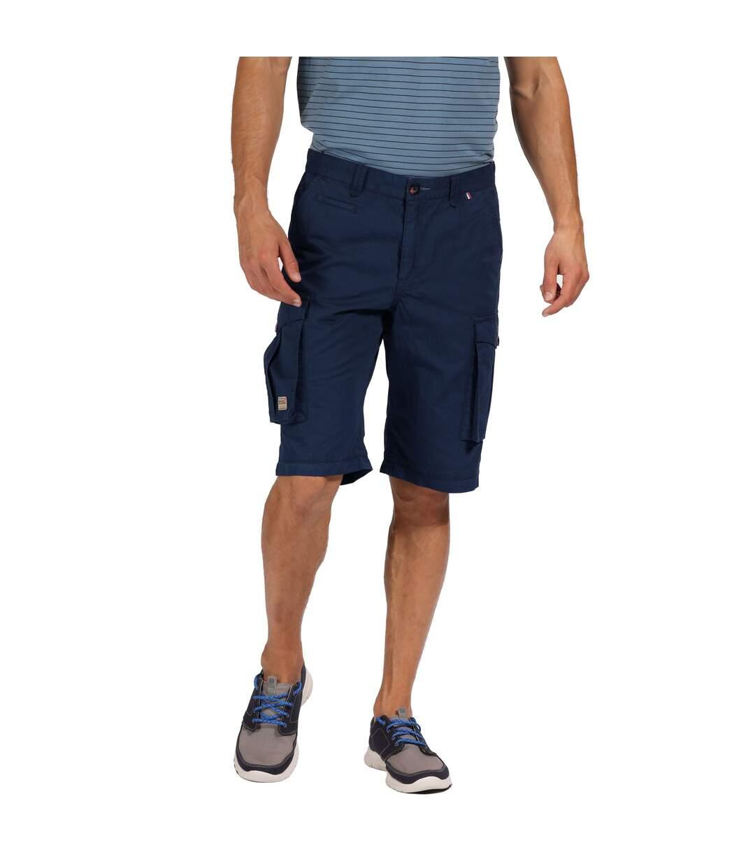 Regatta Mens Shorebay Vintage Cargo Shorts (Seal Grey) - UTRG4167