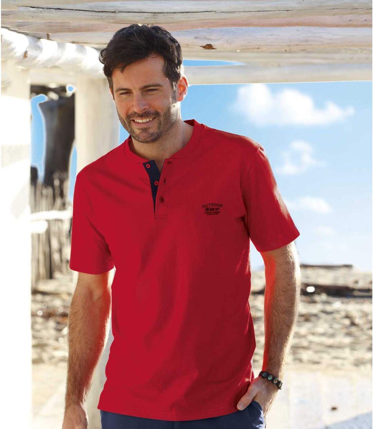 3 darabos, gombos nyakú Outdoor póló szett Atlas For Men