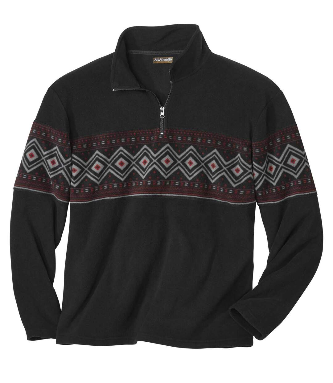 Fleece-Sweatshirt mit Jacquard-Muster