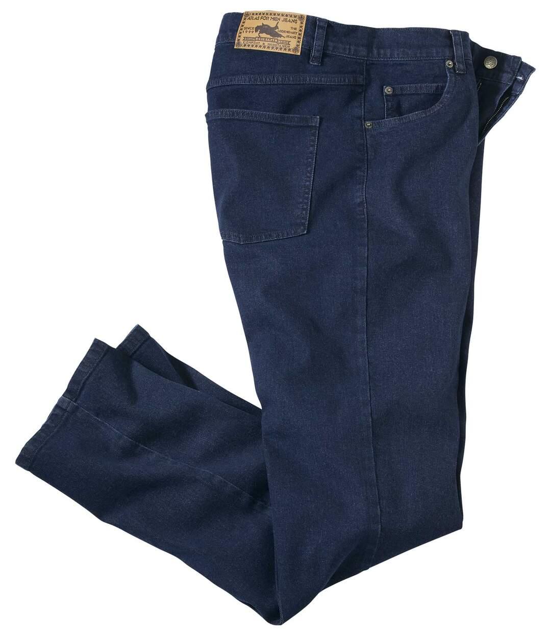 Ciemnoniebieskie jeansy Regular ze stretchem Atlas For Men