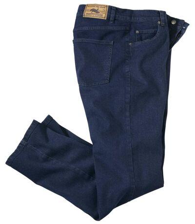 Ciemnoniebieskie jeansy Regular ze stretchem