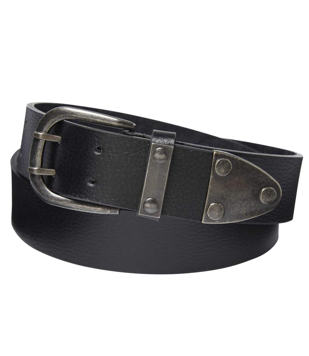 Men's Black Authentic Leather Belt