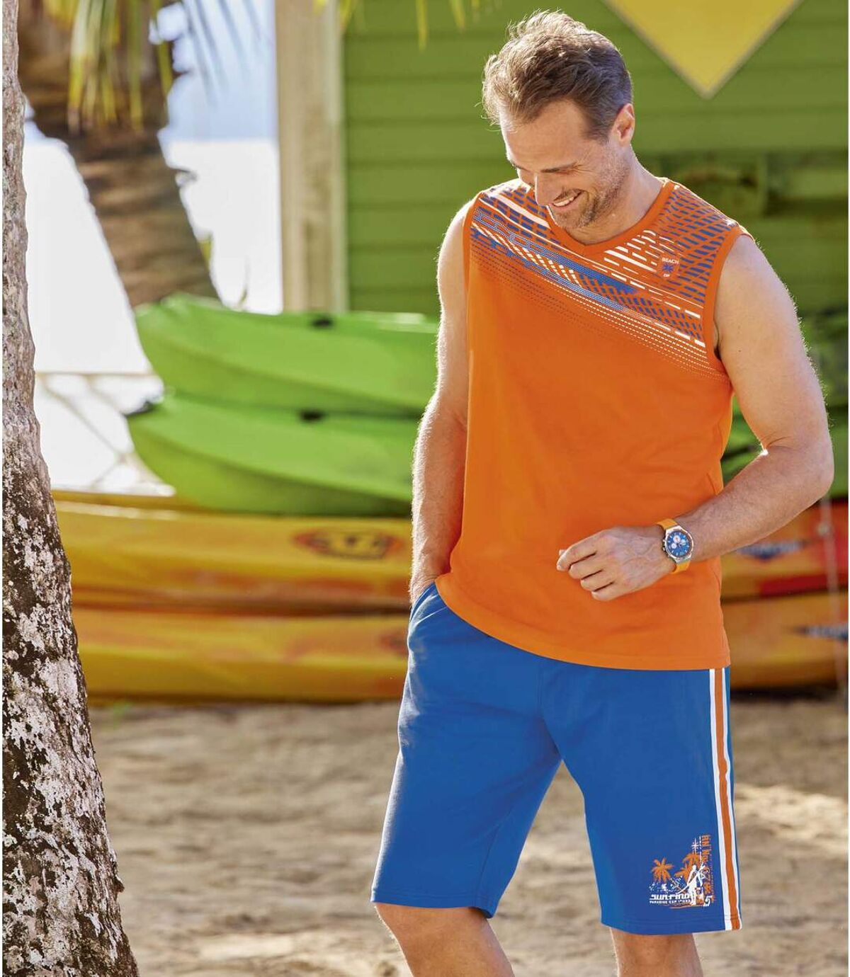 Molton bermuda Sport Paradise Atlas For Men