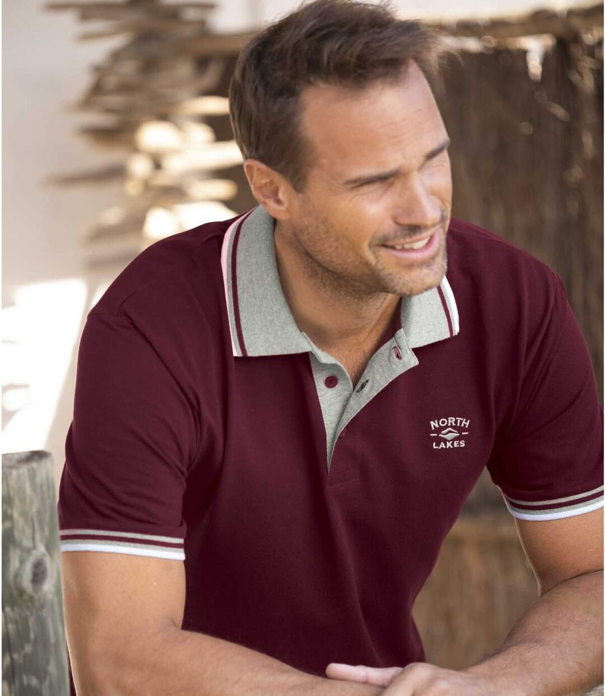 Zestaw 2 koszulek polo z dzianiny pika North Lakes Atlas For Men