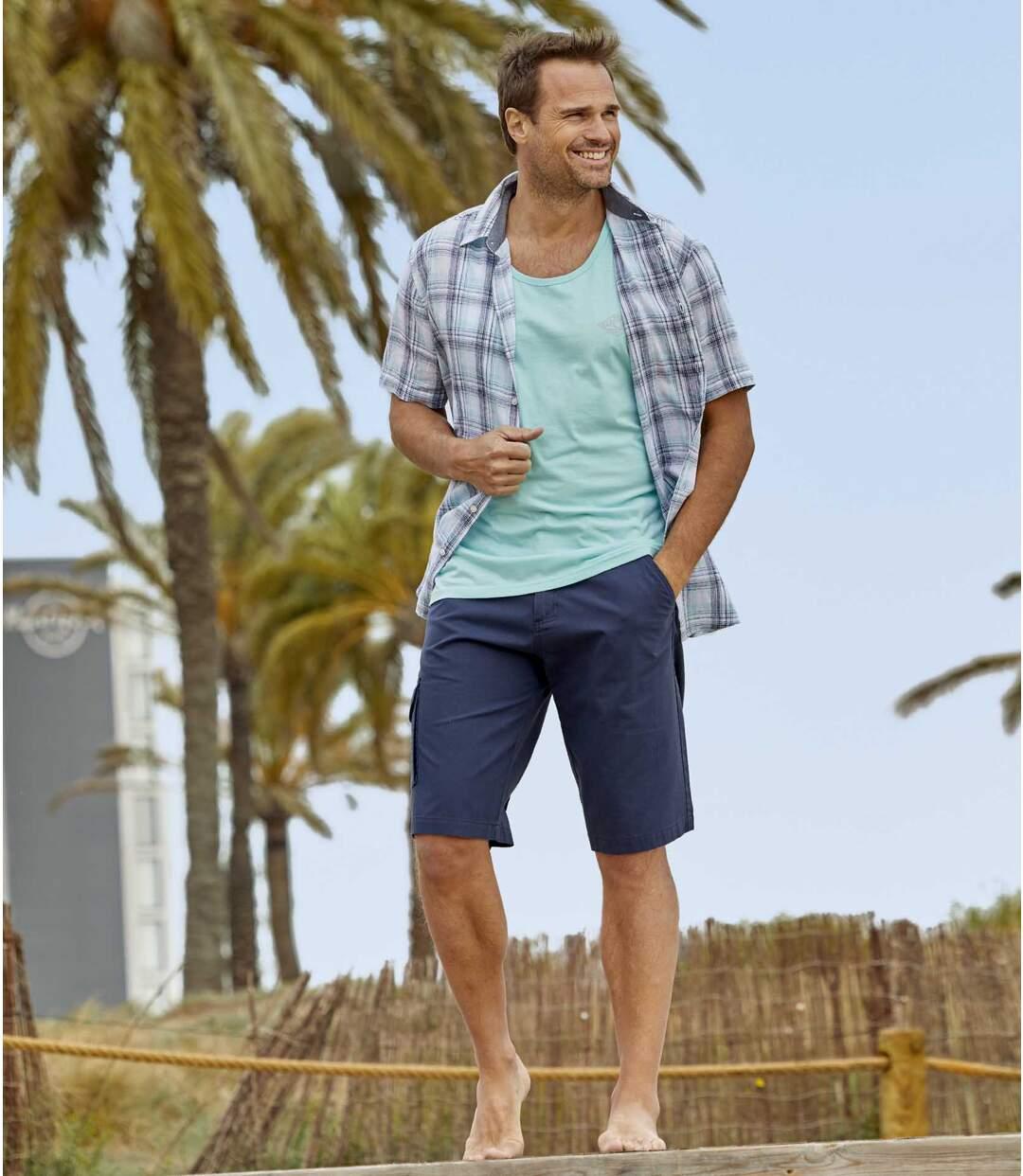 Men's Navy Cargo Shorts