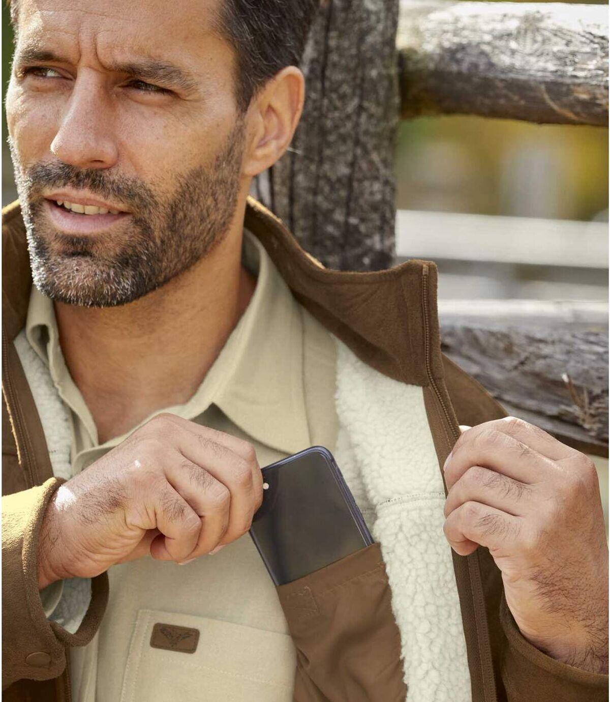 Zateplená bunda zumelého semišu Atlas For Men