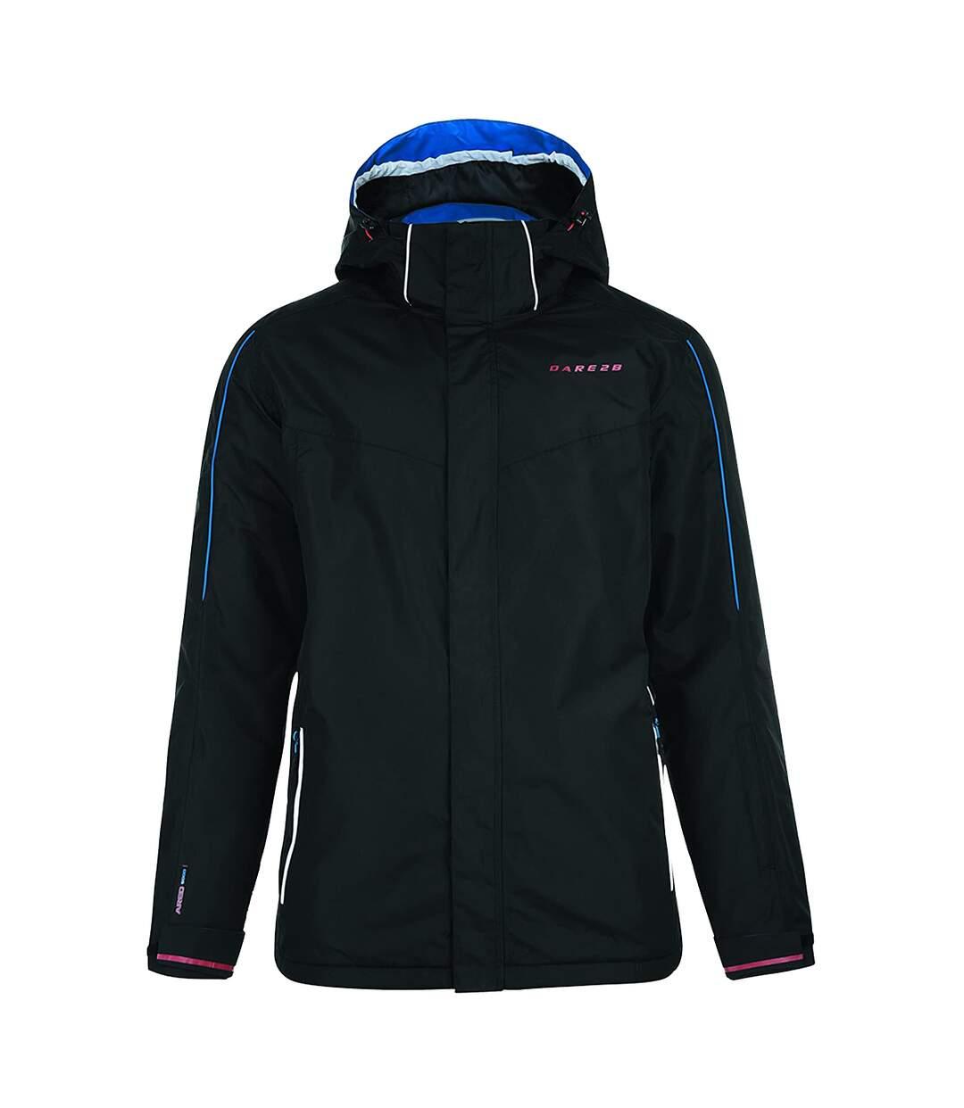 Dare 2B Mens Synced Hooded Waterproof Ski Jacket (Black) - UTRG1244