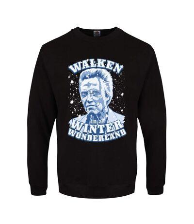 Grindstore Mens Walken In A Winter Wonderland Christmas Jumper (Black) - UTGR1404