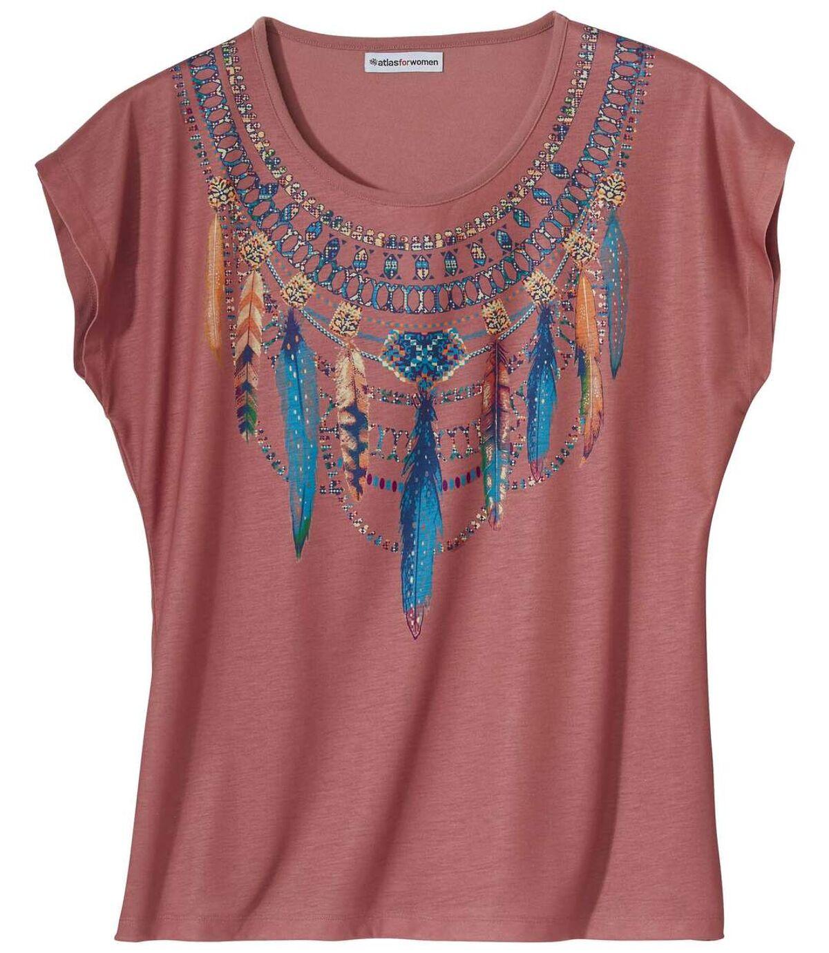 Women's Pink Top - Necklace Print Atlas For Men