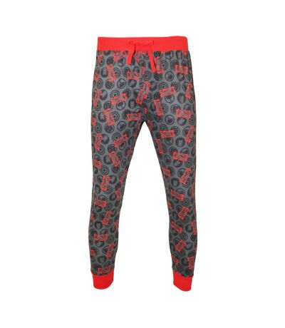 Marvel Mens Comic Character Lounge Trousers (Red/Grey) - UTUT870