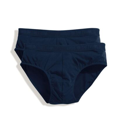 Lot 2 slips Homme - coton - bleu marine - duo Pack 67-018-7
