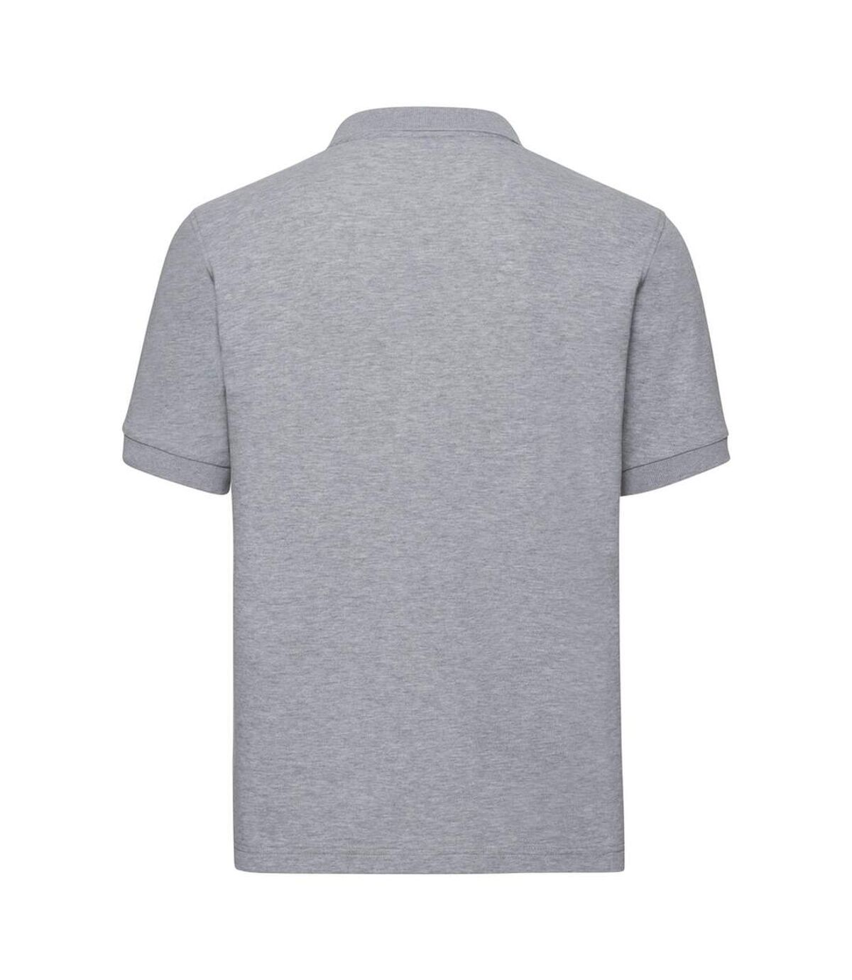 Russell Mens Tailored Stretch Pique Polo Shirt (Light Oxford Grey) - UTPC3570