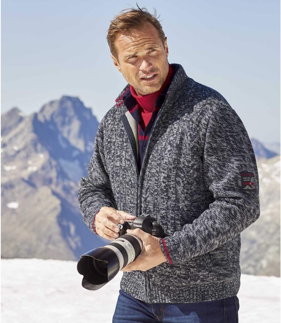 Trykotowa bluza podszyta kożuszkiem sherpa North Exp.