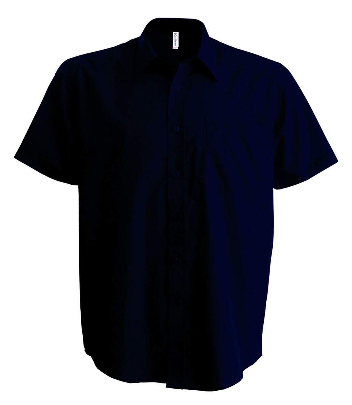 Chemise popeline manches courtes - K551- bleu marine - homme