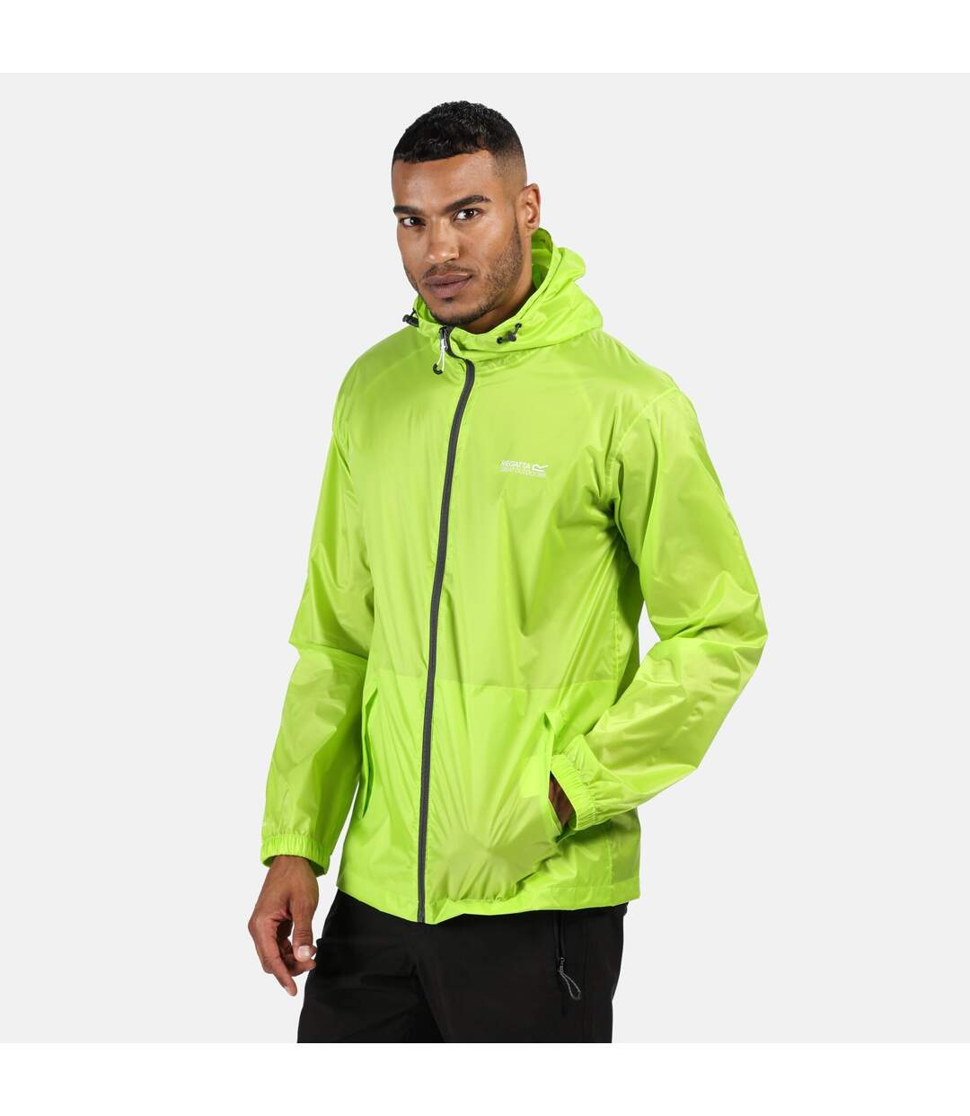 Regatta Mens Pack It III Waterproof Jacket (Electric Lime) - UTRG3512