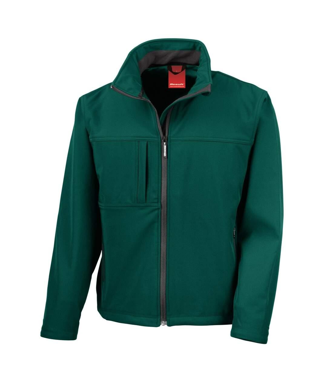 Result Mens Softshell Premium 3 Layer Performance Jacket (Waterproof, Windproof & Breathable) (Bottle Green) - UTBC2046