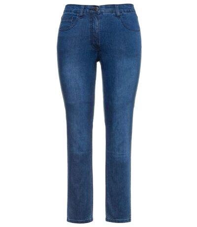 ULLA POPKEN Jeans Sarah 5-pocket stretch narrow leg blanchi NOUVEAU